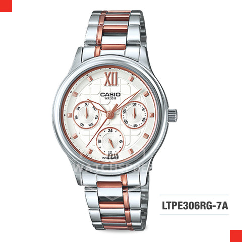 Casio Ladies Watch LTPE306RG-7A