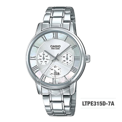 Casio Standard Analog-Ladies Silver Stainless Steel Watch LTPE315D-7A