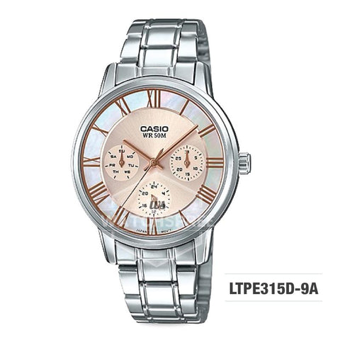 Casio Standard Analog-Ladies Silver Stainless Steel Watch LTPE315D-9A