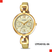 Load image into Gallery viewer, Casio Ladies Watch LTPE401GL-9A