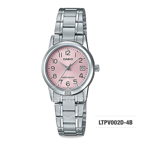 Casio Ladies' Standard Analog Silver Stainless Steel Band Watch LTPV002D-4B LTP-V002D-4B