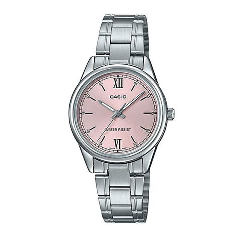 Casio Ladies' Analog Silver Stainless Steel Band Watch LTPV005D-4B2 LTP-V005D-4B2