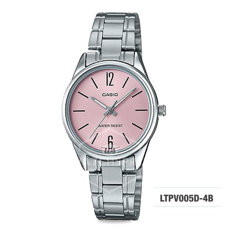 Casio Ladies' Standard Analog Silver Stainless Steel Band Watch LTPV005D-4B LTP-V005D-4B