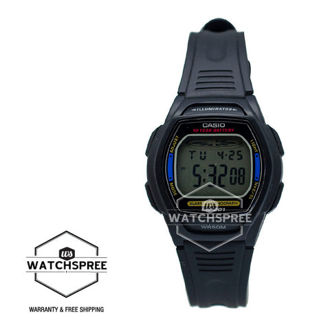 Casio Standard Digital Black Resin Strap Watch LW201-2A