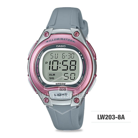Casio Standard Digital Grey Resin Strap Watch LW203-8A
