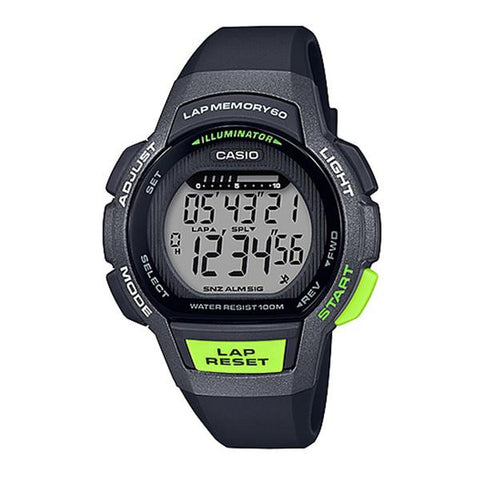 Casio Ladies' Sports Black Resin Band Watch LWS1000H-1A LWS-1000H-1A