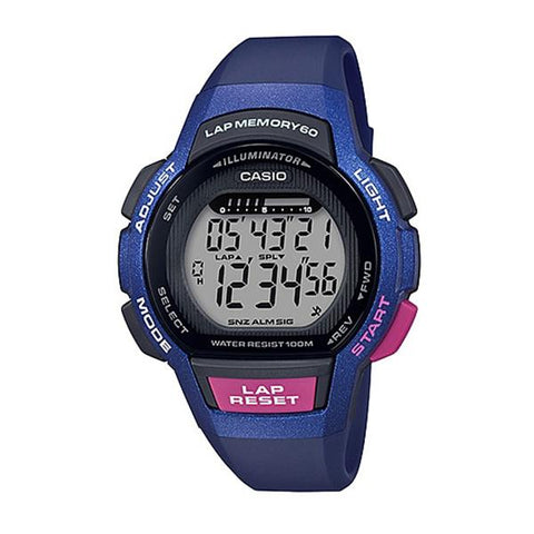 Casio Ladies' Sports Blue Resin Band Watch LWS1000H-2A LWS-1000H-2A