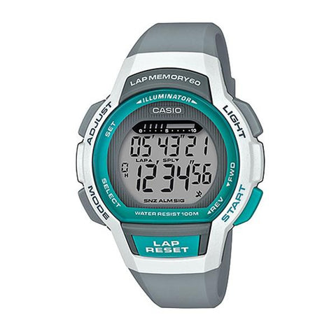 Casio Ladies' Sports Grey Resin Band Watch LWS1000H-8A LWS-1000H-8A