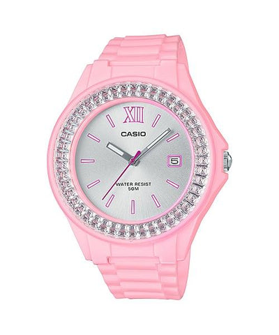 Casio Ladies' Standard Analog Pink Resin Band Watch LX500H-4E4 LX-500H-4E4