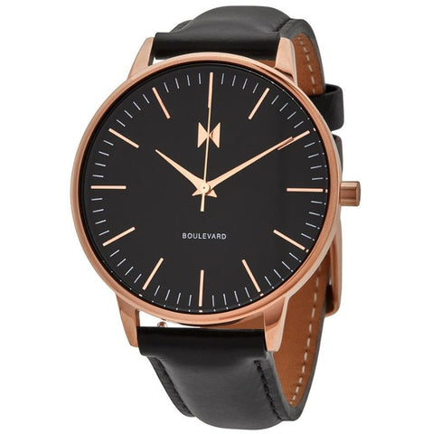 MVMT Boulevard Monica Quartz Black Dial 38 mm Ladies Watch MB01-RGBL