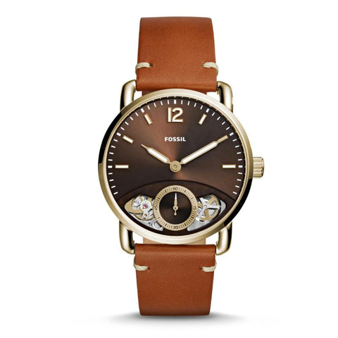 Fossil Men's The Commuter Twist Tan Leather Strap Watch ME1166