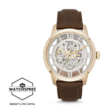Load image into Gallery viewer, Fossil Men Townsman Automatic Brown Leather Watch ME3043