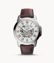 Load image into Gallery viewer, Fossil Men Grant Automatic Dark Brown Leather Watch ME3099