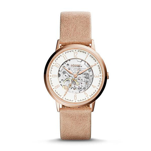 Fossil Ladies' Vintage Muse Automatic Sand Leather Watch ME3152