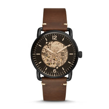 Load image into Gallery viewer, Fossil Men's Commuter Automatic Brown Leather Watch ME3158