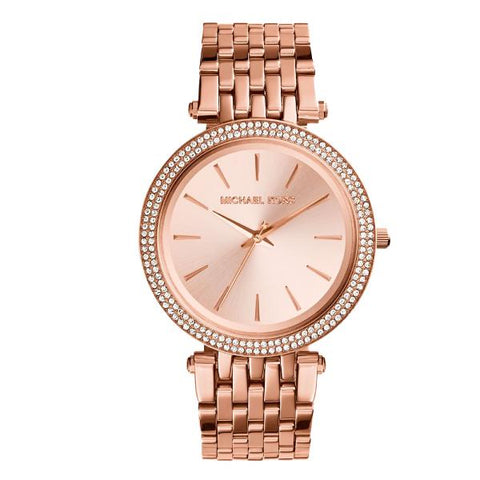 Michael Kors Ladies' Darci Pavé Rose Gold Tone Watch MK3192