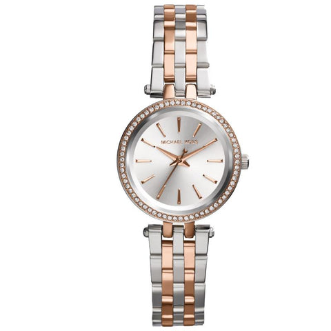 Michael Kors Ladies' Petite Darci Series Two Tone Stainless Steel Band Watch MK3298