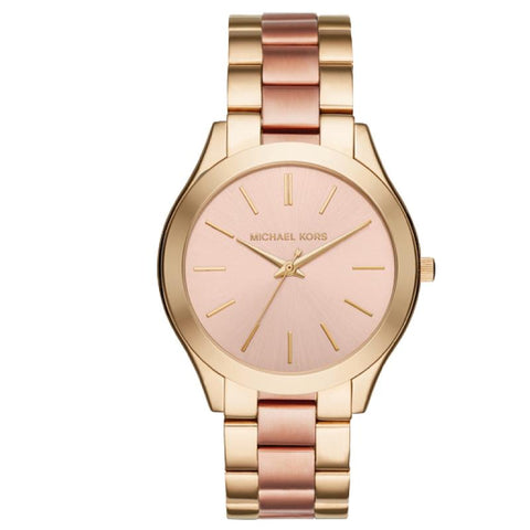 Michael Kors Ladies' Slim Runway Series Two Tone Stainless Steel Band Watch MK3493