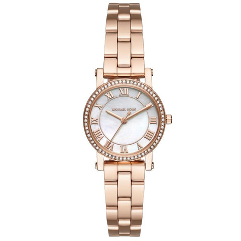 Michael Kors Ladies' Petite Norie Series Rose Gold Tone Stainless Steel Band Watch MK3558