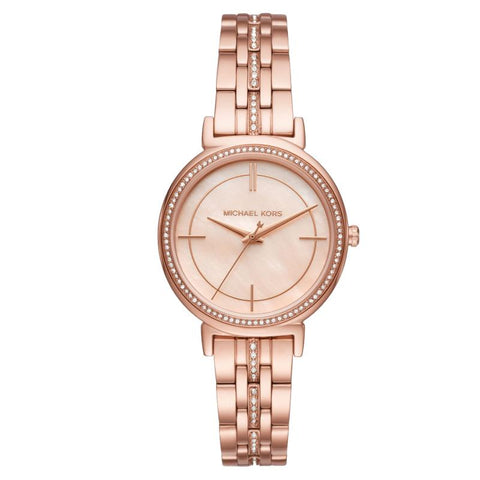 Michael Kors Ladies' Cinthia Series Rose Gold Stainless Steel Band Watch MK3643