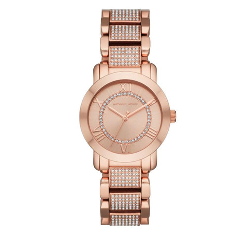 Michael Kors Ladies' Vail Series Rose Gold Stainless Steel Band Watch MK3687