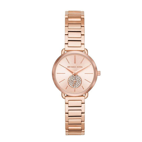 Michael Kors Ladies' Portia Rose Gold Tone Stainless Steel Bracelet Watch MK3839