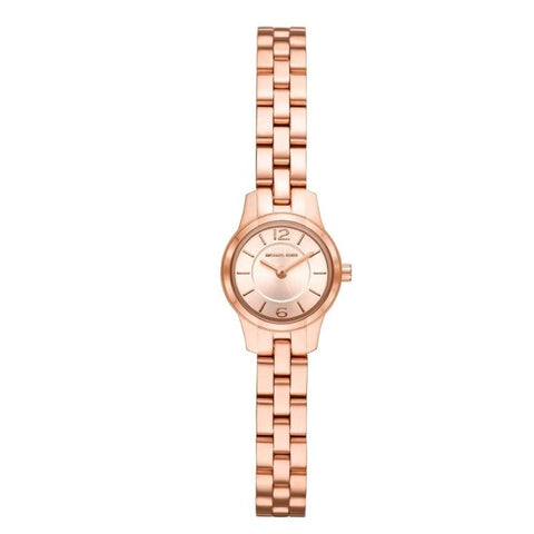 Michael Kors Ladies' Petite Runway Rose Gold Dial Watch MK6593