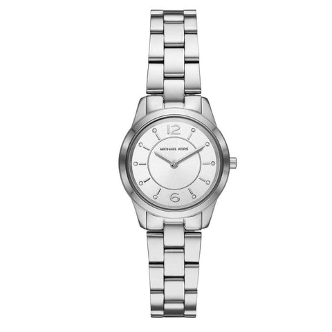 Michael Kors Ladies' Petite Runway Silver Tone Watch MK6610