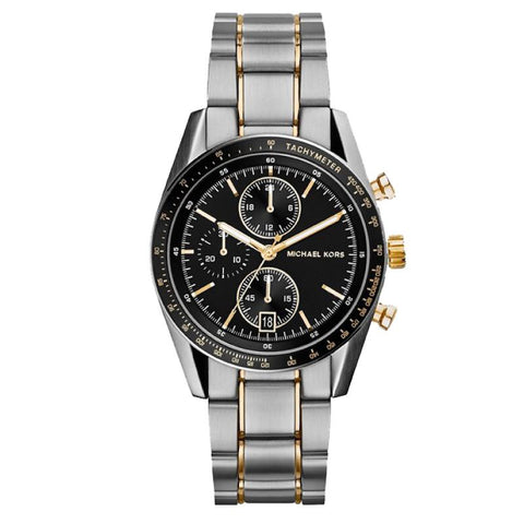 Michael Kors Men's Accelerator Chronograph Two Tone Stainless Steel Bracelet Watch MK8368