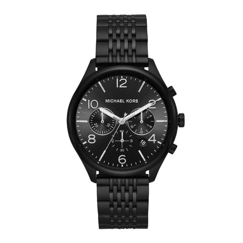 Michael Kors Men's Merrick Chronograph Black IP Stainless Steel Watch MK8640