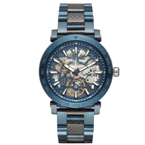Michael Kors Men's Greer Skeleton Dial Two Tone Stainless Steel Bracelet Watch MK9036