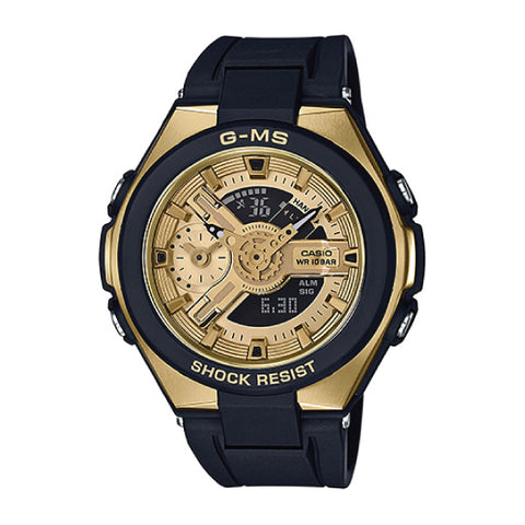 Casio Baby-G G-MS Lineup Black Resin Band Watch MSG400G-1A2 MSG-400G-1A2