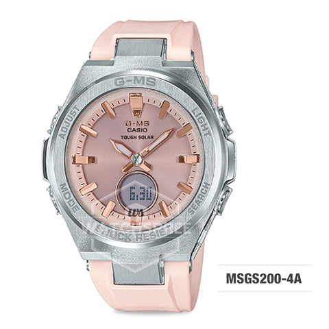 Casio Baby-G G-MS Lineup Peach Resin Band Watch MSGS200-4A MSG-S200-4A