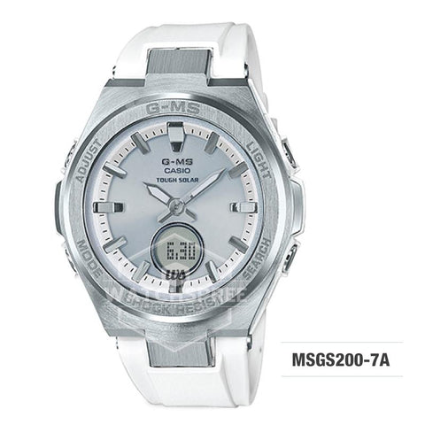 Casio Baby-G G-MS Lineup White Resin Band Watch MSGS200-7A MSG-S200-7A