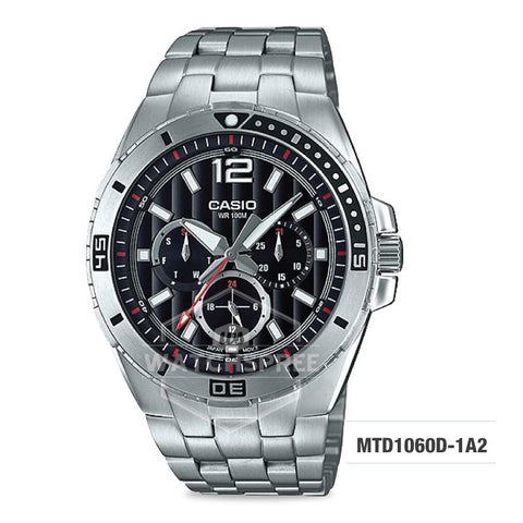 Casio Men's Diver Look Standard Analog Stainless Steel Band Watch MTD1060D-1A2 MTD-1060D-1A2