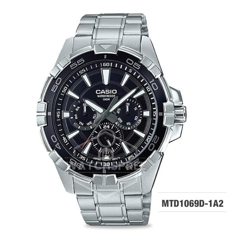 Casio Men's Diver Look Standard Analog Silver Stainless Steel Band Watch MTD1069D-1A2 MTD-1069D-1A2