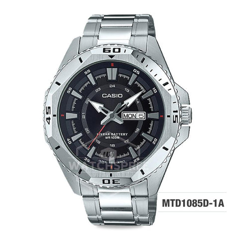Casio Standard Analog Stainless Steel Band Watch MTD1085D-1A