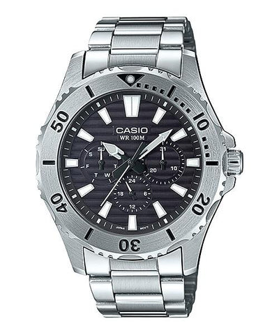 Casio Men's Standard Analog Marine Sports Silver Stainless Steel Band Watch MTD1086D-1A MTD-1086D-1A