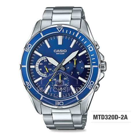 Casio Men's Standard Analog Silver Stainless Steel Band Watch MTD320D-2A