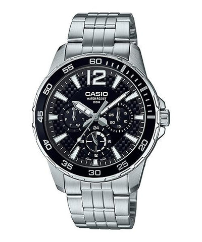 Casio Men's Marine Sports Diver Look Silver Stainless Steel Band Watch MTD330D-1A MTD-330D-1A