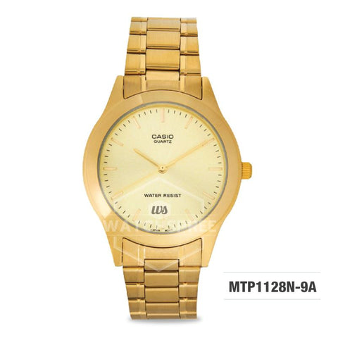 Casio Men's Standard Analog Gold Tone Stainless Steel Watch MTP1128N-9A MTP-1128N-9A
