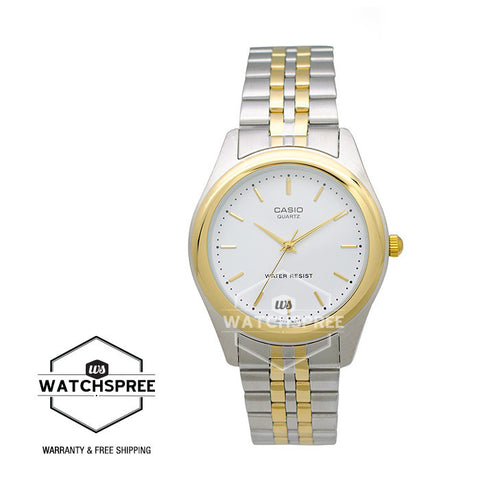 Casio Enticer Gent's Series Two tone Stainless Steel Band Watch MTP1129G-7A
