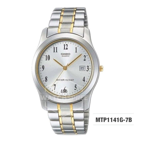 Casio Standard Analog Two-tone Stainless Steel Band Watch MTP1141G-7B