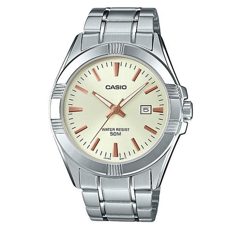 Casio Men's Standard Analog Silver Stainless Steel Band Watch MTP1308D-9A MTP-1308D-9A