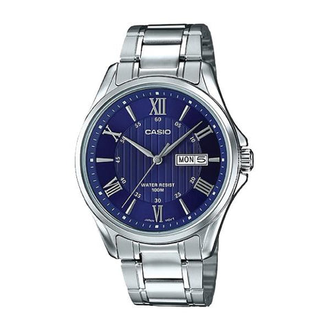 Casio Men's Standard Analog Silver Stainless Steel Band Watch MTP1384D-2A MTP-1384D-2A