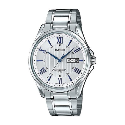 Casio Men's Standard Analog Silver Stainless Steel Band Watch MTP1384D-7A2 MTP-1384D-7A2