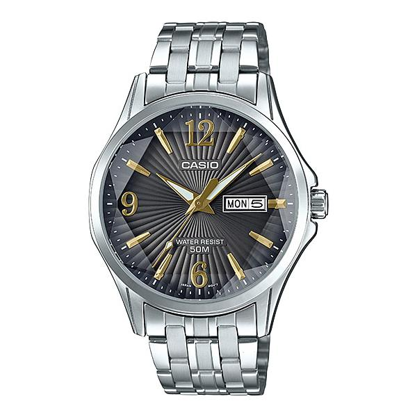 Casio Men's Analog Silver Stainless Steel Band Watch MTPE120DY-1A MTP-E120DY-1A