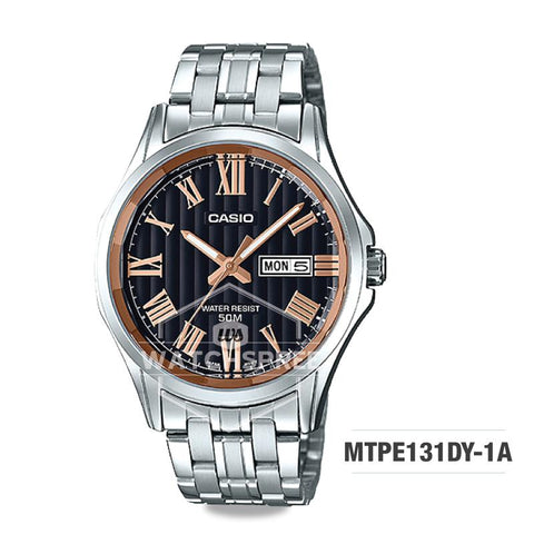 Casio Men's Standard Analog Silver Stainless Steel Band Watch MTPE131DY-1A MTP-E131DY-1A