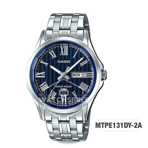 Casio Men's Standard Analog Silver Stainless Steel Band Watch MTPE131DY-2A MTP-E131DY-2A