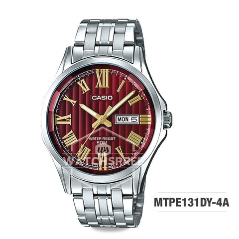 Casio Men's Standard Analog Silver Stainless Steel Band Watch MTPE131DY-4A MTP-E131DY-4A